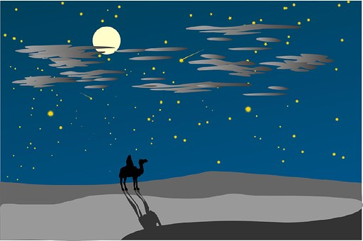 desert: star: sky
